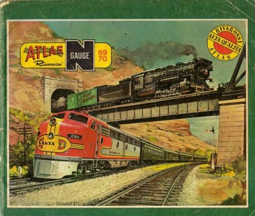 Copertina del catalogo Atlas-Rivarossi 1969/70. Cliccando sull'immagine accedi al catalogo.