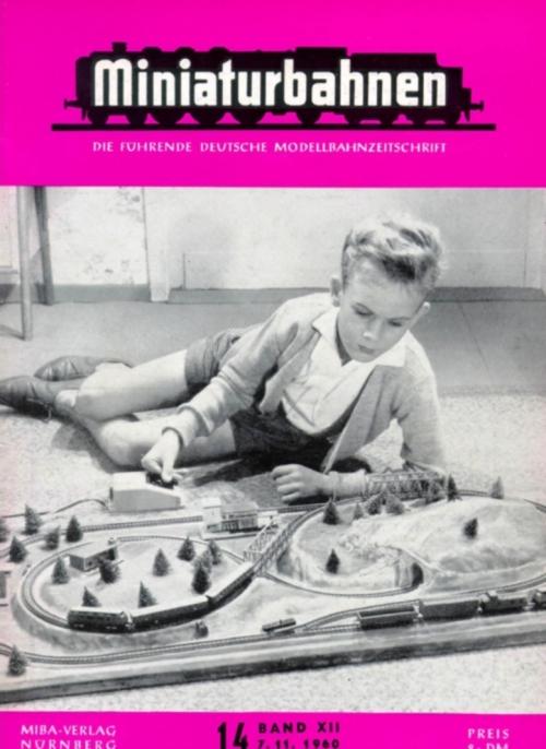 Il prim plastico Arnold, su una copertina di MiBa (Miniaturbahnen) del 1960