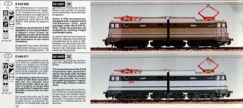 Una pagina del catalogo Minitrain
