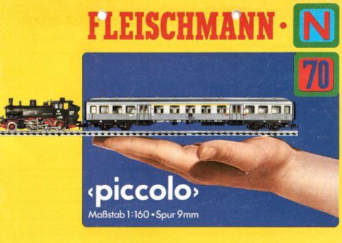 Catalogo Fleischmann Piccolo del 1970