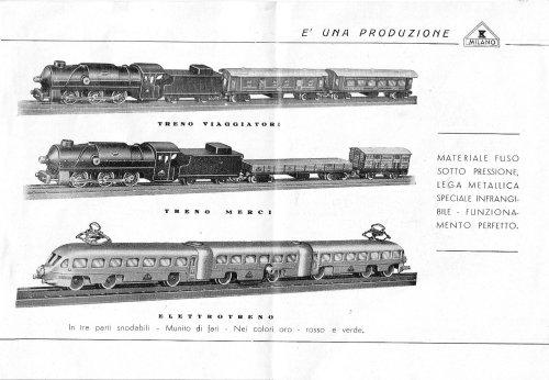 I tre treni che Cappa aveva a catalogo