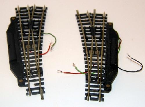 Scambi Roco con meccanica elettromagnetica per comando remoto