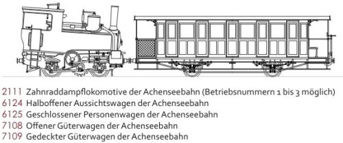 Schizzo della Achenseebahn di NTram in scala Nm