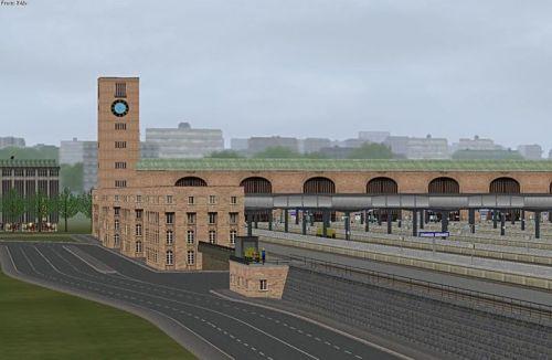 Altra vista della stazione di Stoccarda in versione virtuale