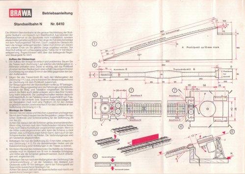 Foglietto di istruzioni della Brawa 6410 - parte 1