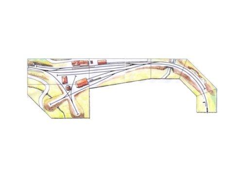 Planimetria della stazione di Malles come modulo FREMO