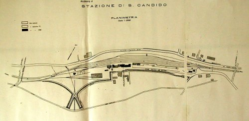 Planimetria della stazione di San Candido, con stella di inversione. Da un post di Roberto Alinovi su trenoincasa.forumfree.it