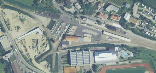 Ortofoto satellitare della stella di Malles nel 2006