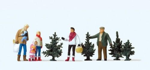Le figure di Preiser per il mercatino di Natale