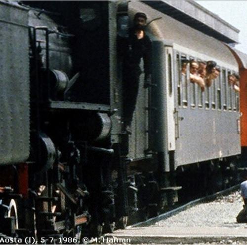 Una UIC-Y di prima classe ad Aosta nel 1986. Foto © M. Haman