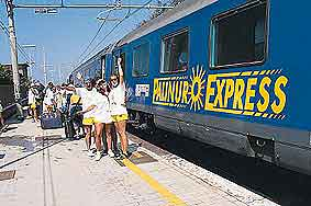 Variamte della livrea del Palinuro Express