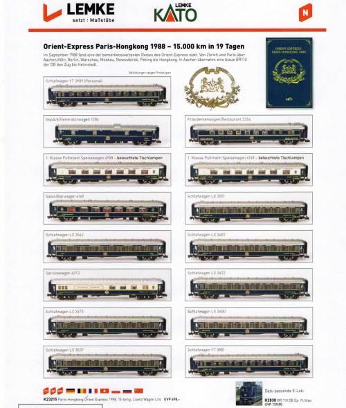 Orient Express Kato, versione per il mercato Europeo (2014)