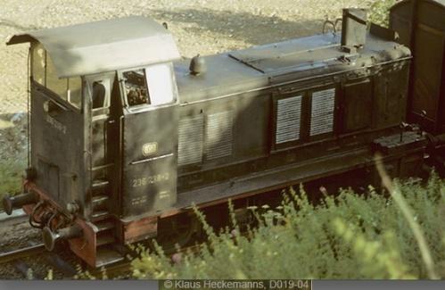 La macchina con cabina rialzata nelle DB divenne 236 238. Foto ©Kaus Heckemann, da www.drehscheibe.de