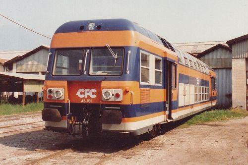 Automotrice A2n 001 in deposito a Iseo, nel 1988 - Foto Ale Sasso da wikimedia