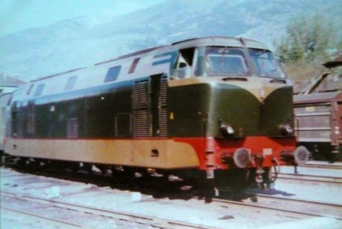 La D 461 1001 ad Aosta nel 1972 (Foto U.Lancia-Collez. L.Voltan)