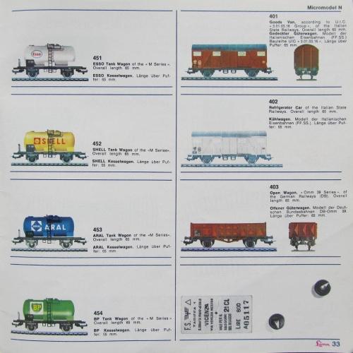 I carri disponibili erano tutti a marcatura FS: due carri soperti (uno isotermico), uno a sponde alte, quatto carri per il trasporto di derivati petroliferi.