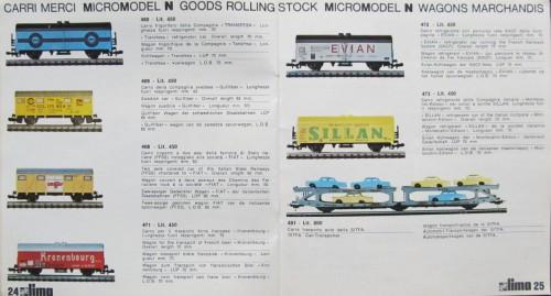 I due nuovi carri a marcatura FS presenti sul catalogo 1970 (Fiat e SIllan)