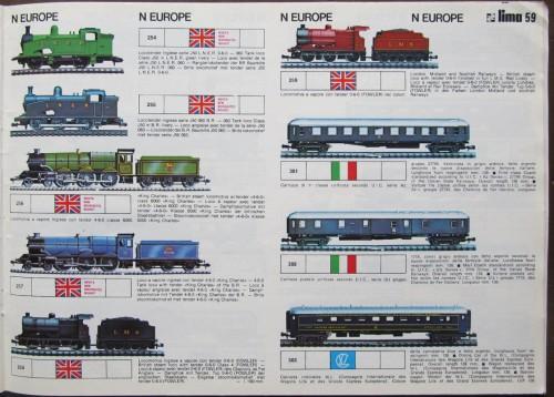 Il catalogo 1976 mostra le carrozze FS con una  nuova livrea