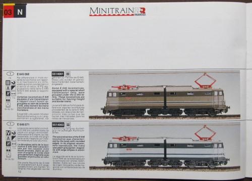 Le articolate Lima- Minitrain RR. Annunciate sul catalogo 1994, riprese in quello 1995 ma mai apparse