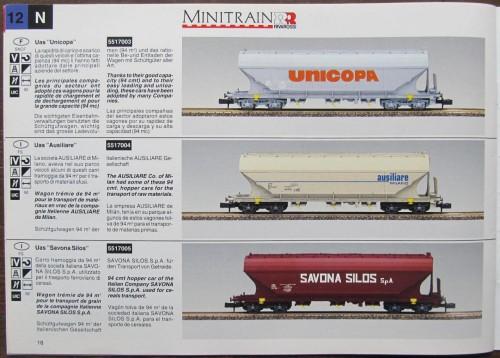 Carri UAS sul catalogo 1994,  stesso destino delle articolate.
