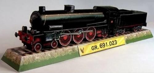 La FS Gr.691 di carta