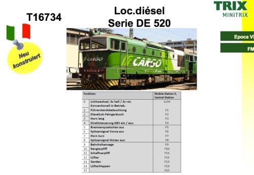 DE 520 Trix, dal catalogo novità 2015 spagnolo