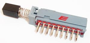 Deviatore multipolare per sei linee elettriche (6-pole-push-button-switch)