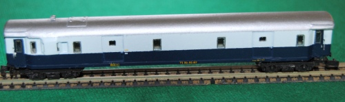 Il Dz 80200 in livrea Treno Azzurro, dalla Collezione Angioy