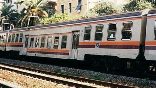 P.R. in livrea navetta a Rapallo nel 1997 - Foto © Fabrizio Tellini da Trenomania