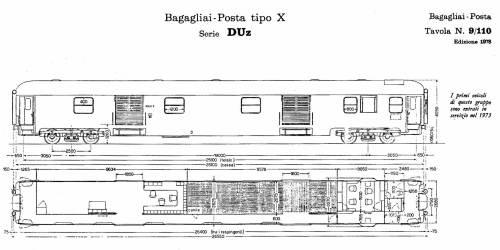 Bagagliaio-posta DUz Tipo 1970