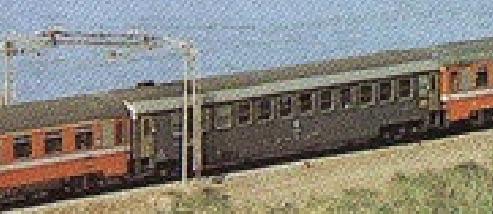 Rara immagine di una UIC-X 1970 Ristoro in grigio ardesia - dettaglio da una foto del Rapido Aurora reperita su www.forum-duegieditrice.com, originale da Mondo Ferroviario n° 84, giugno 1993