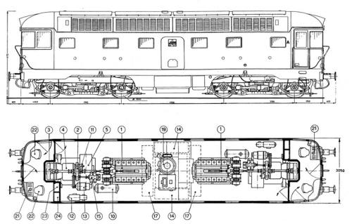 Figurino della D.342 serie 3, da http://www.hitech-rr-modelling.it/