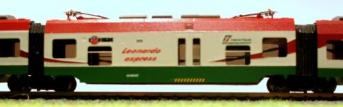Minuetto versione Leonardo Express di Stefano Depietri - Dettaglio della carrozza centrale