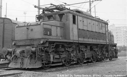 E.626.007 al DL Toorino nel 1968 Foto © Pedrazzini da www.marklinfan.net