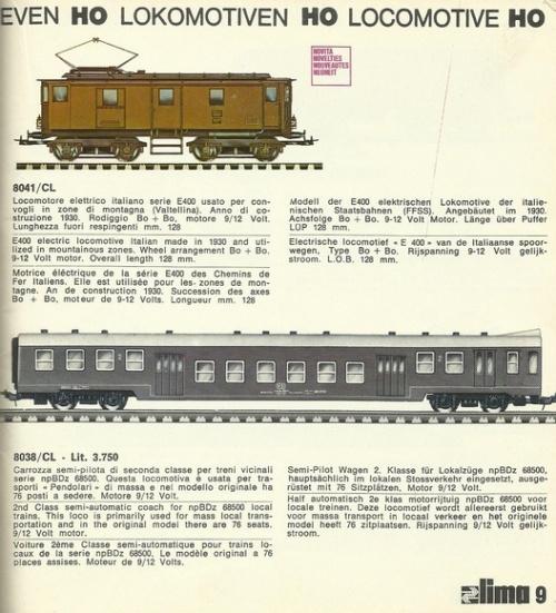 Catalogo Lima 1972: la semipilota Piano Ribassato era tra le... motrici!