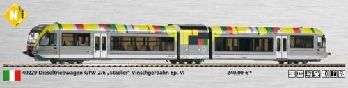 Il GTW 6-2 della Val Venosta prodotto da Piko in scala N - disponibile da ottobre 2013