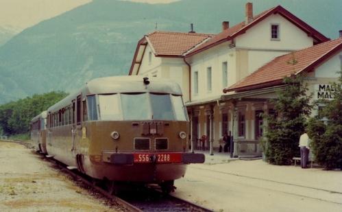 ALn 556 a Malles nel giugno '72 - Foto © P.Gregoris e Walter Bonmartini da flickr