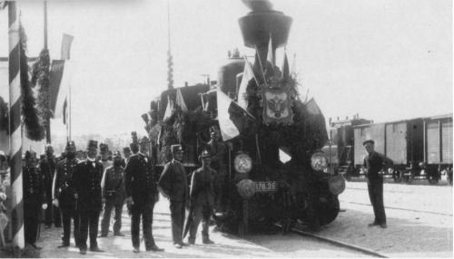 Inaugurazione della Merano Malles - 1 luglio 1906 - dalla tesi fi Fabio Lamanna - in origine da Danieli, Ezio, Seconda Classe, Bolzano 1978