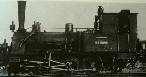DR 89 8009 - Foto da un forum - originale da Spielhoff, Deutsche Eisenbahnen