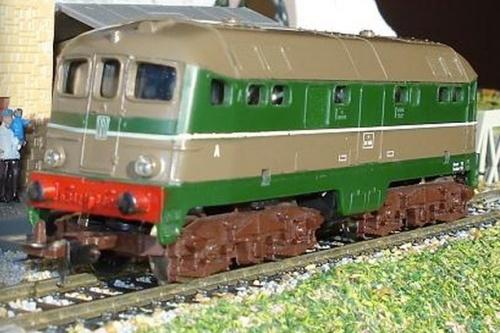 D.342 Lima in livrea verde e isabella - foto da www.trainsimsicilia.net