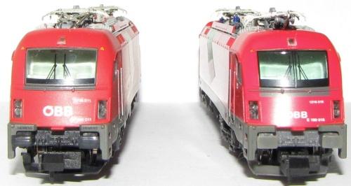 La 011 di Claudio Bertoli (a sx) a confronto con la 018 Hobbytrain (a dx) - Foto © Cristian Cicognani dal forum ASN
