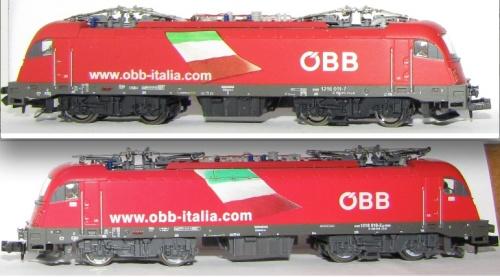 La 011 di Claudio Bertoli (in alto) a confronto con la 018 Hobbytrain (in basso) - Foto © Cristian Cicognani dal forum ASN