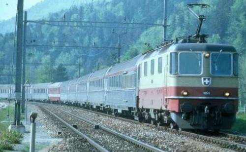 TEE Cisalpin in Svizzera negli anni '80. Foto © autore sconosciuto