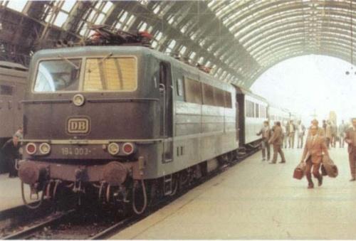 DB Br 184.003 a Milano nel 1972 - Foto AEG