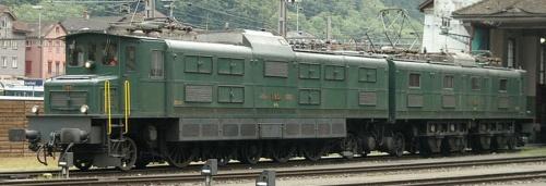 Ae 8/14 11801. Conservata a Erstfeld, é parte del parco locomotive storiche delle SBB. Foto © Philippe Chappuis.