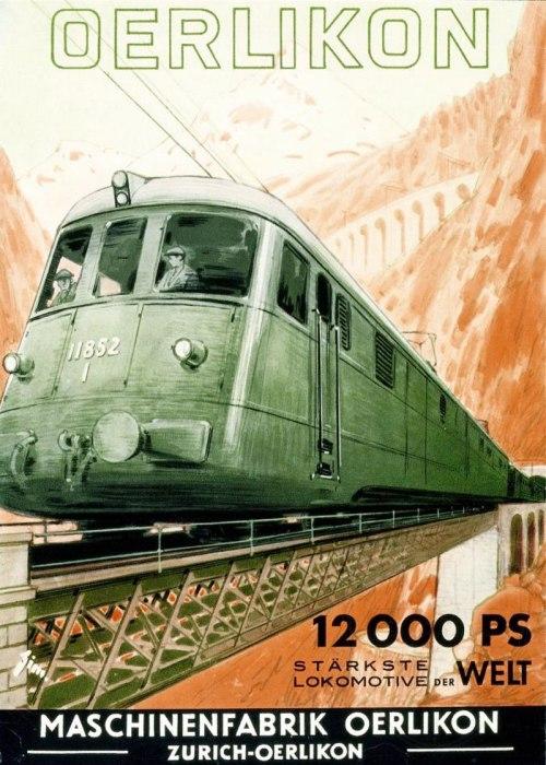 Poster svizzero che vanta la macchina più potente del mondo.