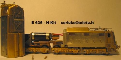 E.636 di N-Kit parzialmente montata. Foto di carlo Mercuri.