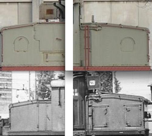 Vista delle fiancate degli avancorpi - serie 2
