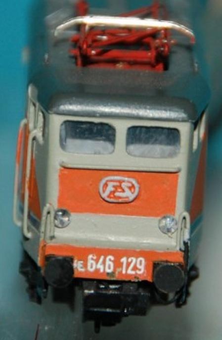 Vista frontale della e.646.129 realizzata da Cestaro