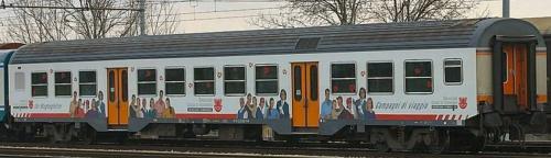 MDVC in una delle tante livree pubblcitarie (qui Cassa Risparmio di Bolzano) - Foto © Ernesto Imperato da trenomania